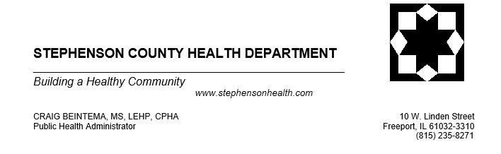 Stephenson County COVID-19 Vaccine Update